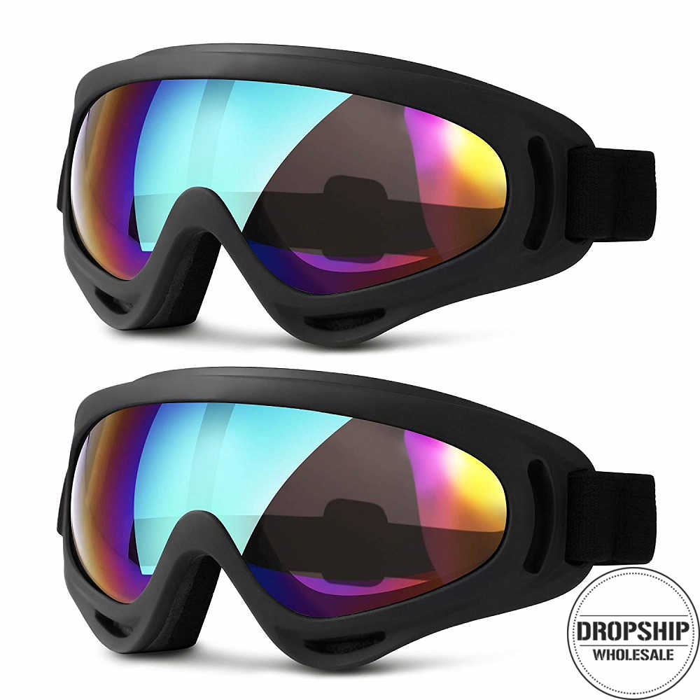 d4a78bcd95a8 Men Women Ski Goggles for Winter Snowboard Skiing Snowmobile Sled Sunglasses  Cycling Googles Motorcycle Windproof AIRSOFT