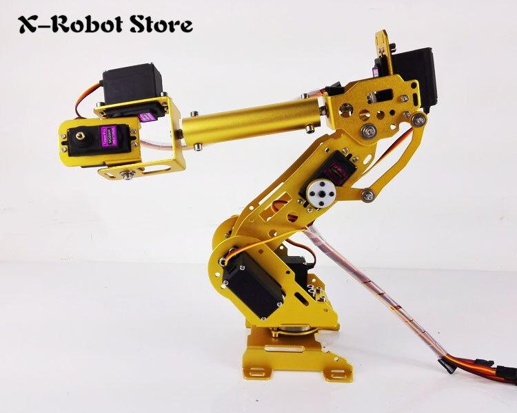 US $182 89 |Abb Color robot arm industrial robot model 7 DOF robot arm  frame All aluminum robotic arm rack 7 servos Rotating base MG996R-in Action  &