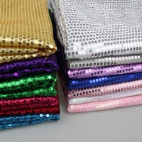 PanlongHome 1M Lot 5MM Sequins Satin Cloth Embroidery Fabric Wedding Stage Performance Dance Apparel Fabrics
