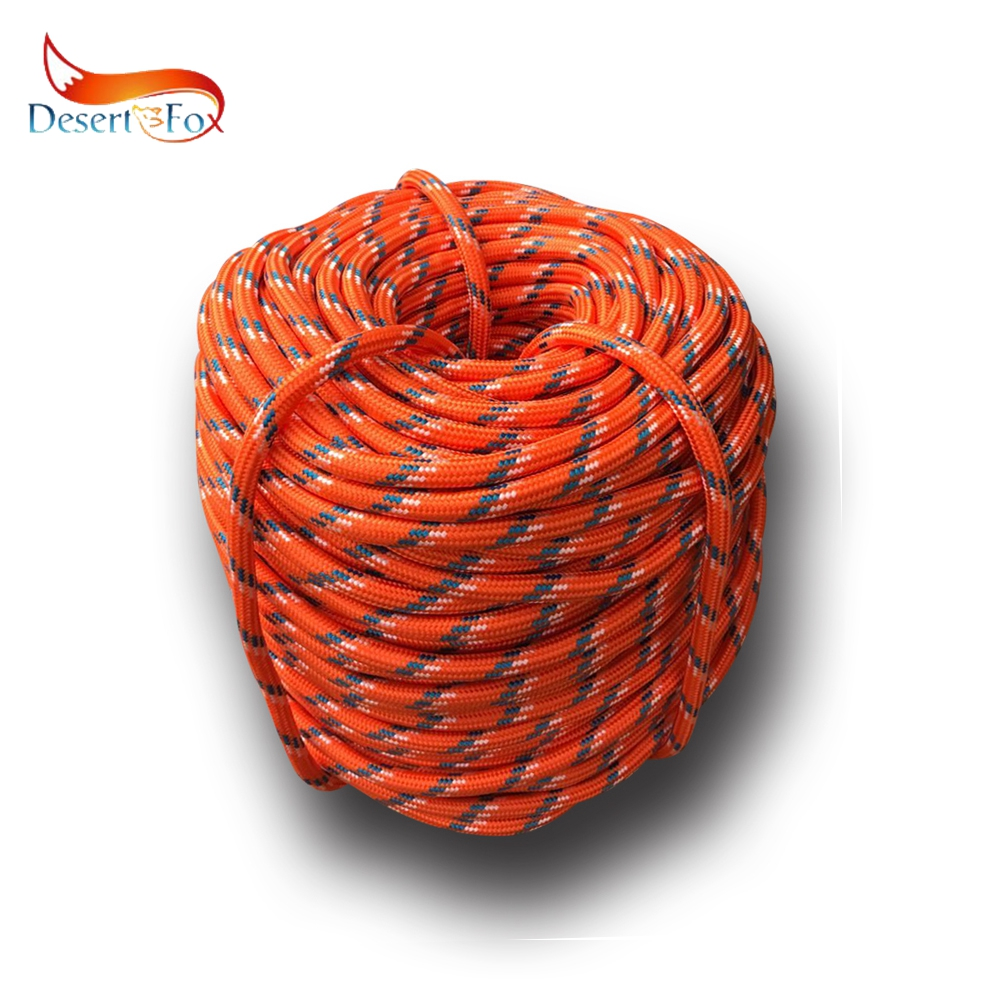 Desert Fox Climbing Rope 10m 20m 30m 50m Outdoor Emergency Rope Wear Resistant 9mm Diameter High