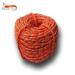 Deserto & raposa escalada corda 10 m/20 m/30 m/50 m ao ar livre corda de emergência usar resistente 9mm diâmetro de alta resistência caminhadas acessório ferramenta