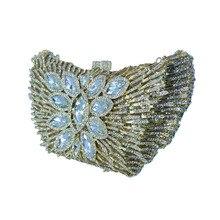 Kuss Schloss Schaukel Abend Geldbörse und Handtaschen für Frauen Kupplungen und Kristall Abendtaschen für Party Braut