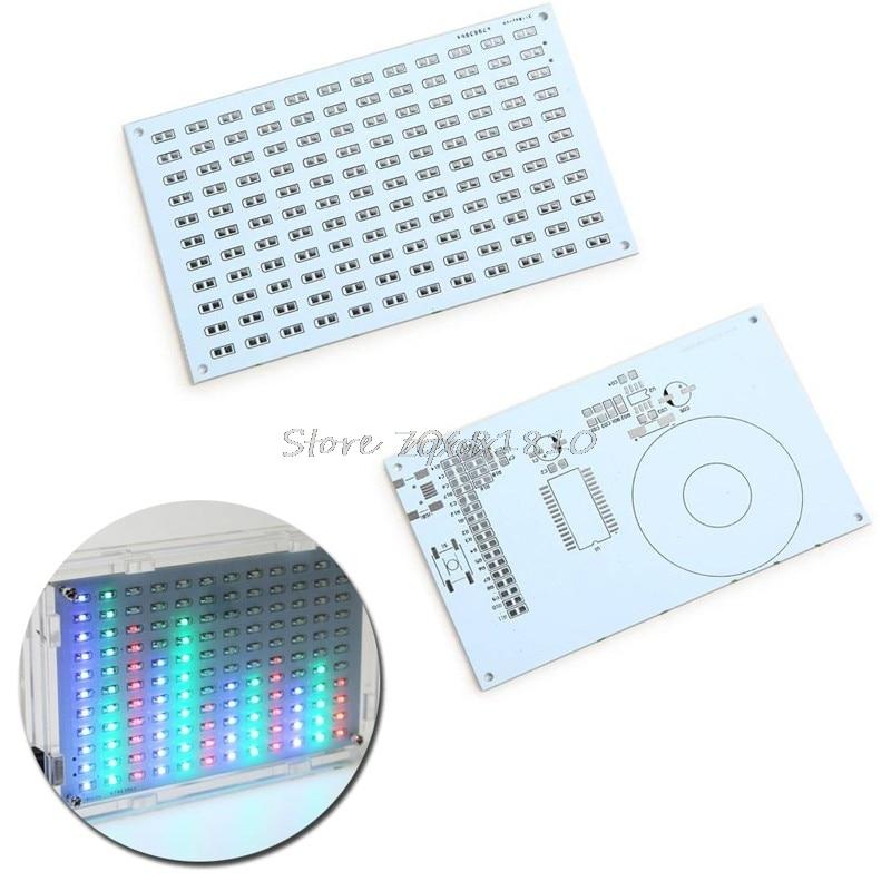 LED Music Spectrum Electronic DIY LED Flash Kit 12*11 FFT Music Box New Z09 Drop ship