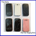 Original Front Bezel LCD Panel Middle Frame Battery Door Back Cover Case For Samsung Galaxy S3 i9300 Housing Full +Logo