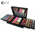78 Colors 3 Layers Sliding Makeup Set including Eyeshadow Contour and Concealing in Matte and Shimmer with Mirror Brush Inside