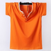 8XL Men Plus size brand t shirt orange tops Tee Shirt Summer 6XL 7XL Short Sleeve Casual Men's T Shirts Male TShirts 3D T shirt