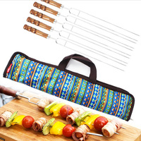 5 In1High Quality Stainless Steel Fork Camping Dining Barbecue BBQ Tool Set Free Shipping
