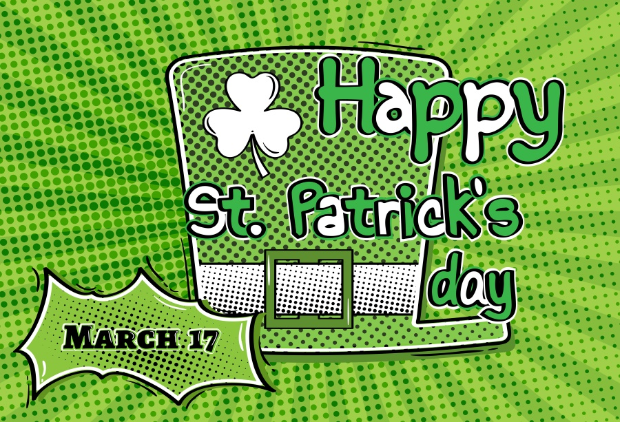 Laeacco Dot Clover Pattern St. Patricks Day Poster Photography Background Customized Photographic Backdrop For Photo Studio