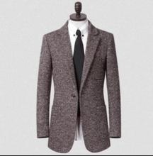Teenage men's clothing business casual suit collar mens wool coat plus size fashion manteau homme coffee casaco feminino 9XL