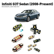 Led interior lights For Infiniti g37 sedan 2008+  12pc Lights Cars lighting kit automotive bulbs Canbus