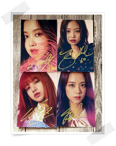 signed Blackpink  autographed photo 6 inches freeshipping  4 photos set 102017A signed apink jeong eun ji autographed original photo 6 inches 6 versions freeshipping 082017b