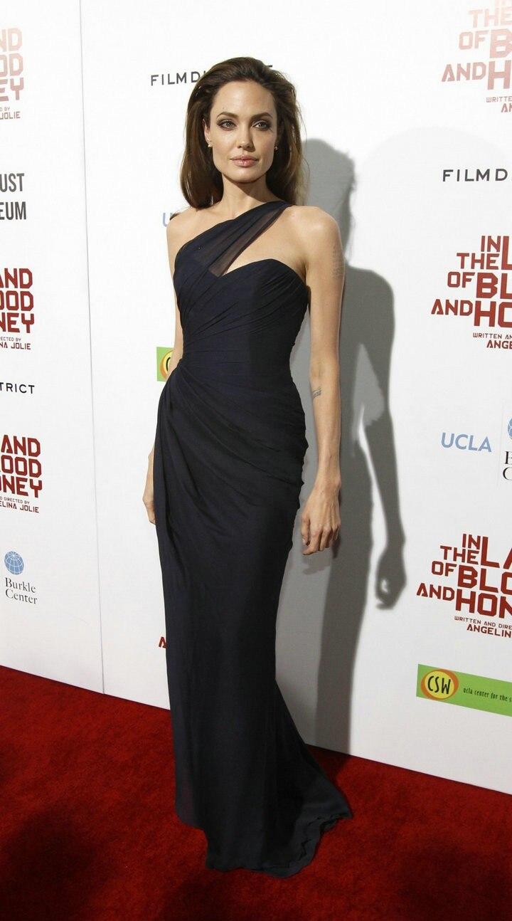 Celebrity Angelina Jolie Clothing Aftan Dress Aliexpresscom
