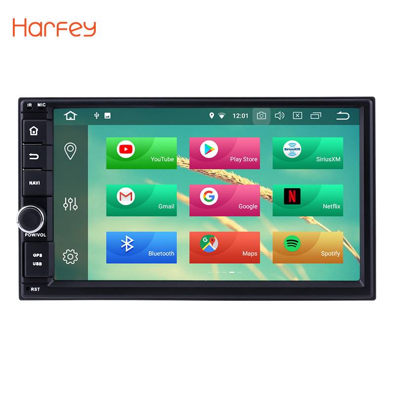 Harfey Android 8.0 7inch HD Touchscreen 2 Din Car Multimedia Player Radio GPS Navigation system for Universal NISSAN TOYOTA KIA