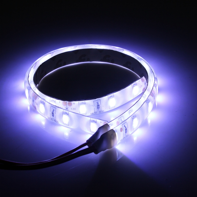 Smuxi 2pcs Waterproof White Light 25cm Flexible 5630 15 LED Strip Lights 12V DC For Car Boat Caravan Motorcycle