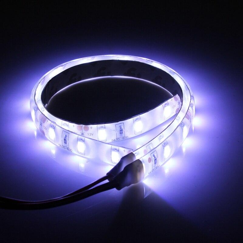 Smuxi 2pcs Waterproof White Light 25cm Flexible 5630 15 LED Strip Lights 12V DC For Car Boat Caravan Motorcycle