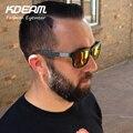 ( 10 pçs/lote ) atacado Kdeam verão 2016 esporte óculos de sol dos homens colorido praça óculos de sol mulheres grife UV400 com caso