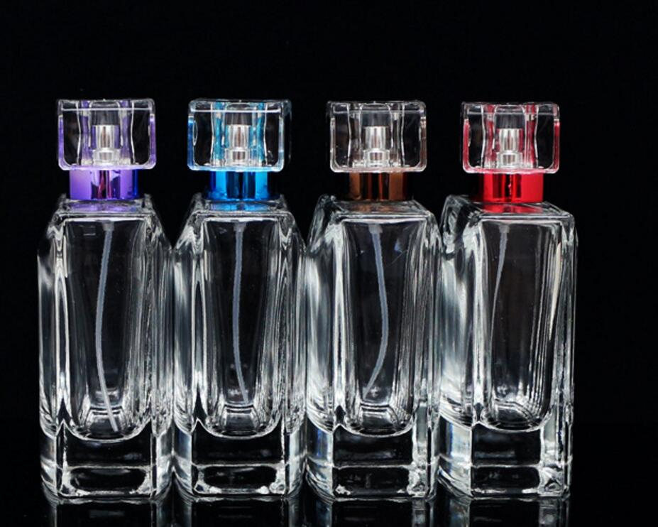 50pcs/lot High Quality 100ml Glass Perfume Spray Bottle Empty Clear Refillable Cosmetic Bottles lin4342