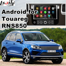 Android Four.Four 5.1 GPS navigation field for Volkswagen Touareg RNS850 system video interface with solid display