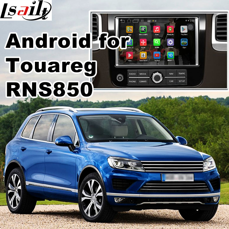 Android 6.0 GPS box navigation pour Volkswagen Touareg RNS850 système vidéo interface boîte avec carplay youtube waze yandex navi
