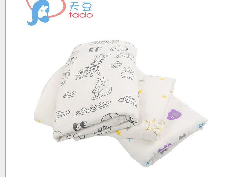 Newborn Cotton Baby Blankets Muslin 4 layers Children Bamboo Gauze Swaddle Toddler Kids Swaddle Blankets Infant Soft Bath Towel