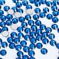 Капри Синий 3D Nail Art Декорация ss3 ss4 ss5 ss6 ss8 ss10 ss12 ss16 ss20 ss30 ss34 Стекло/Crystal Ногтей Номера Для Исправления стразы