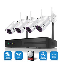 Home Camera Set 4CH Wireless H.265 NVR CCTV Security System 4PCS 2.0MP IP Camera 1080P outdoor wireless camera security system
