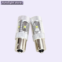 2PCS White P21W BA15s 1156 LED Canbus Backup Reversing Light For All Car 1156 Auto Parking