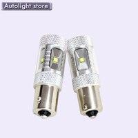2PCS White P21W BA15s 1156 LED Canbus Backup Reversing Light For All Car 1156 Auto Parking