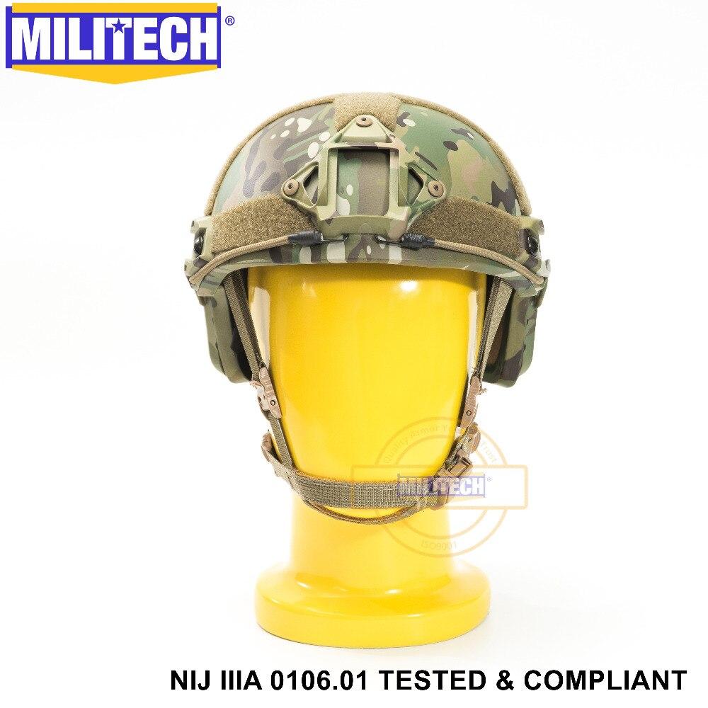 ISO Certifié MILITECH MC OCC Cadran NIJ Niveau IIIA 3A RAPIDE High Cut Aramide Balles Balistiques Casque Avec 5 Ans garantie
