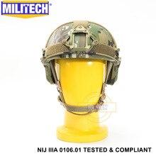 ISO Certified 2019 New MILITECH Multicam Lvl IIIA 3A FAST High XP Cut Bulletproof Aramid Ballistic Helmet With 5 Years Warranty
