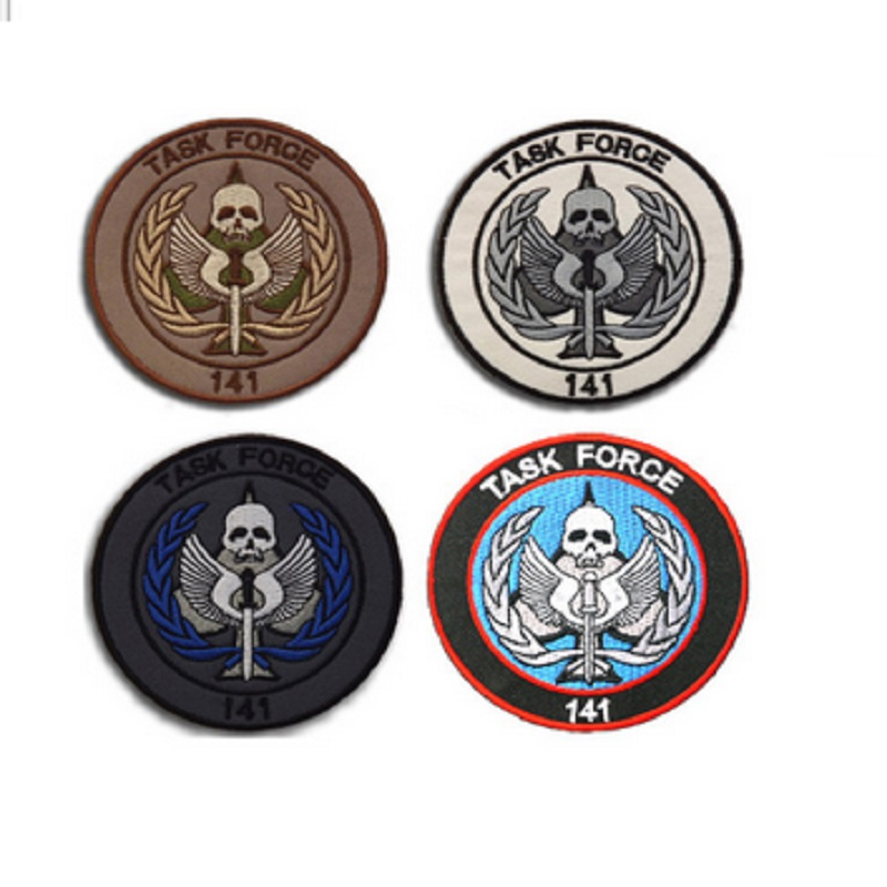 3D high quality 100% Embroidery patches hook and loops Call duty 141 elite SAS team member patch diameter8.5CM(3.3) stickers