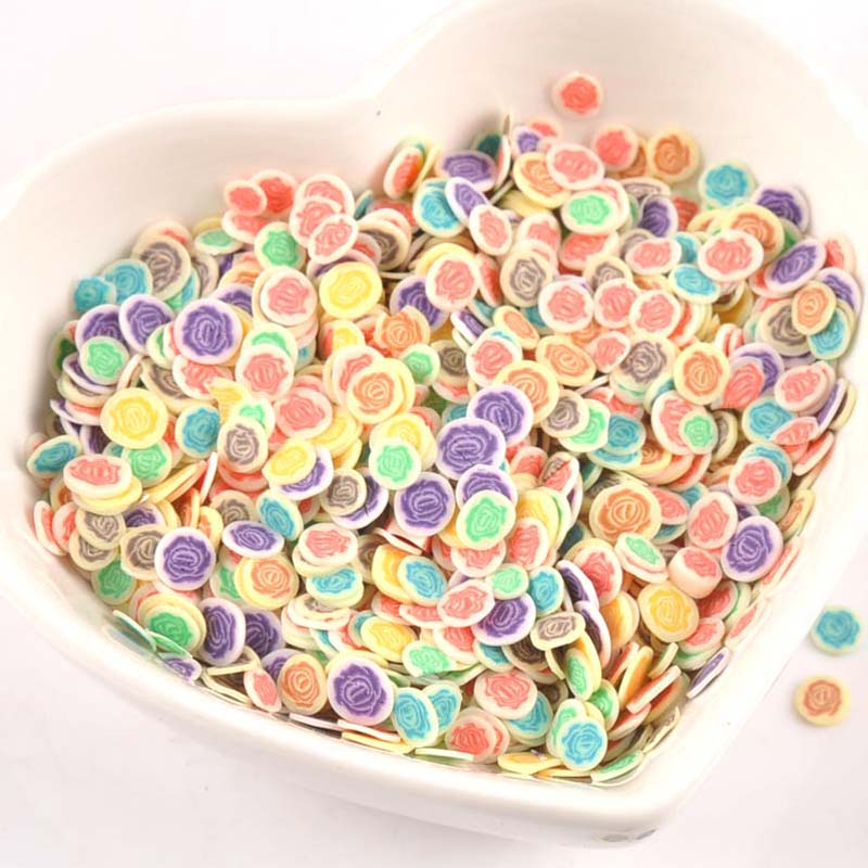 Arts,crafts & Sewing Rational 1000pcs Decor Rose Flower Polymer Clay Toy Diy Slime Accessories Decoration Jelly Mud Hand Gum For Kids Nails Art Tips Cp2215 Apparel Sewing & Fabric