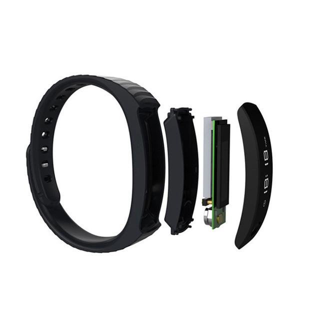 H8 Plus Smart Bracelet Remote Control Smartband Fitness Tracker Pedometer Band OLED Screen Black/White Pk ID115