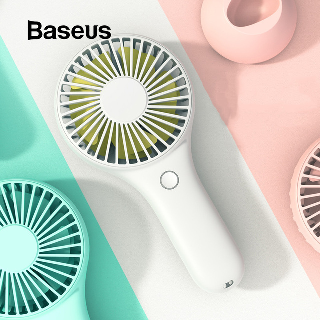 Baseus Mini USB Fan Portable Handheld Ventiladors Rechargeable Built-in Battery 1800mAH Handy Air Cooling Fan For Outdoor Home