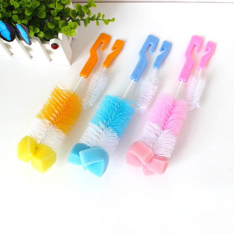 The Baby Bottle Brush Wash Bottle Bottle Nipple Brush Tool Sponge Cleaning Kit Baby Products Wholesale