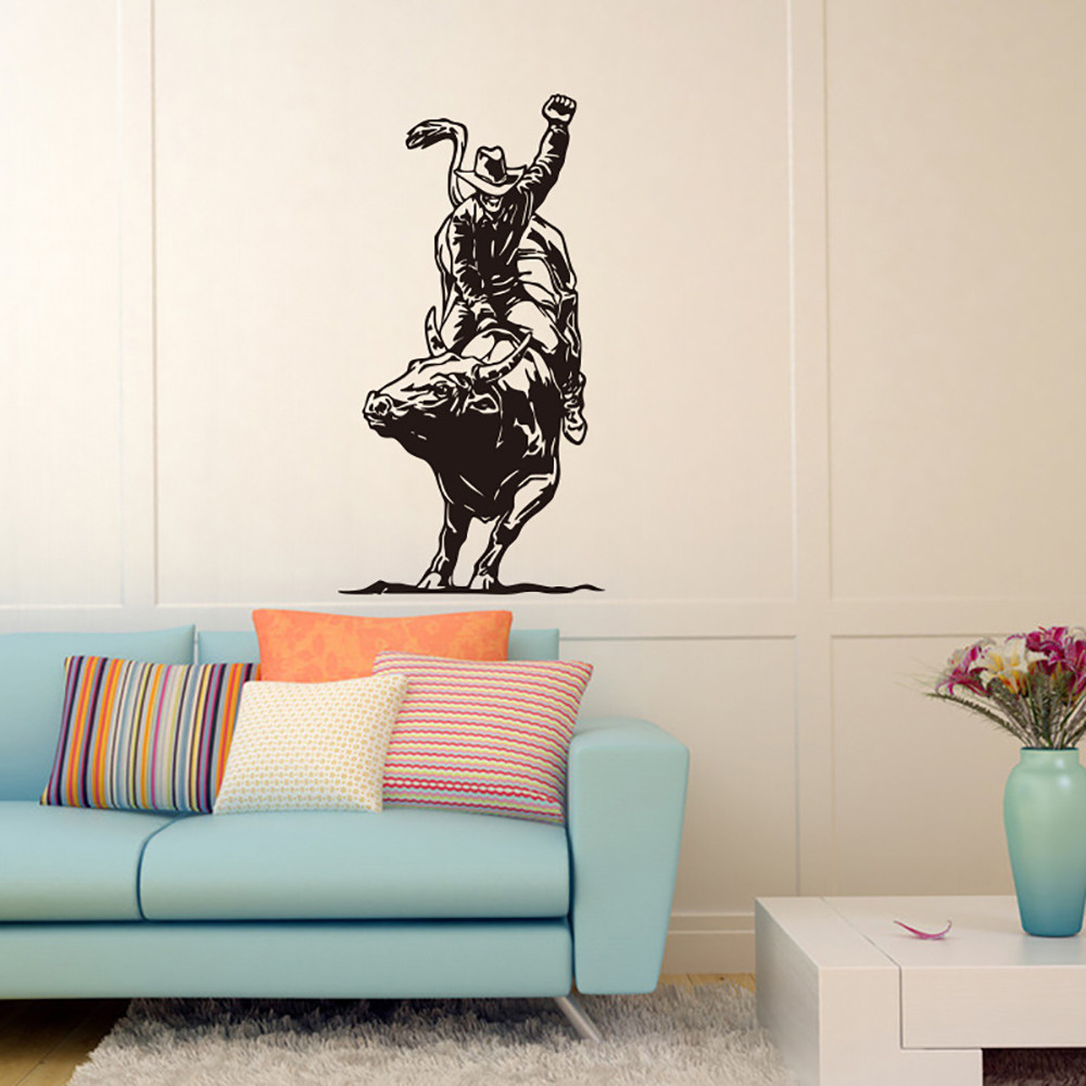 Creative Wall Stickers Vinyl Decal Bullfighting Cowboy Tribal Decor ...