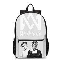 Marcus and Martinus Pattern Backpacks For Men Women Fashion Hip Hop Shoulder Bag Teenage Children Casual Daypack Mochila Escolar