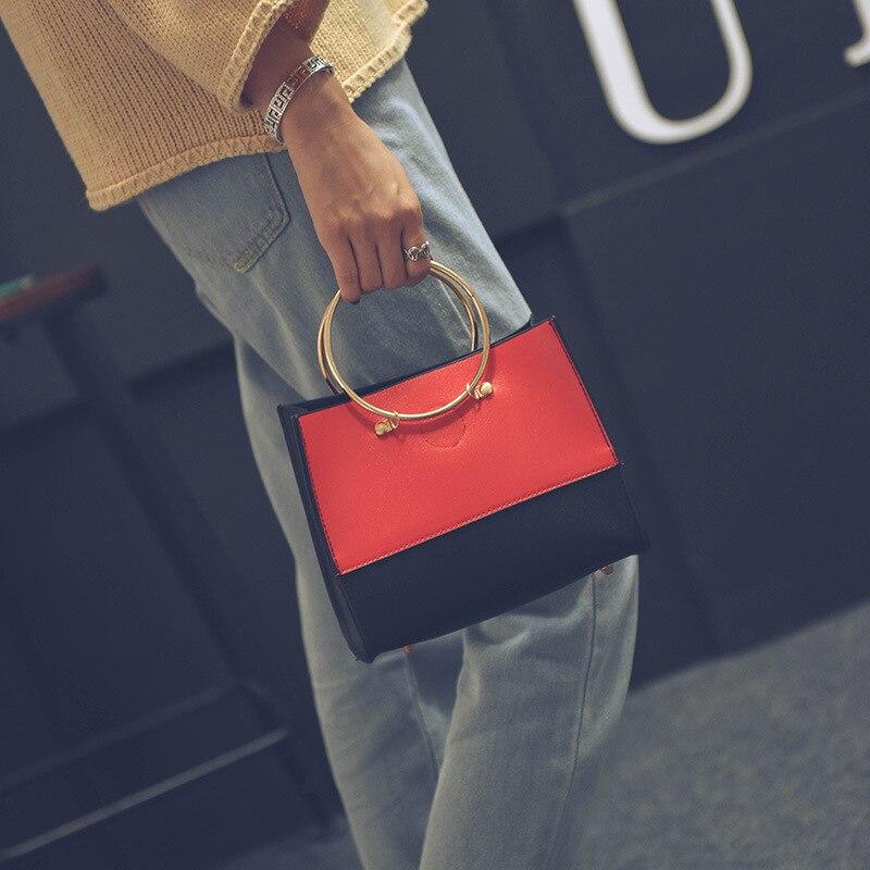 Новый высокое качество Для женщин сообщение сумка из искусственной кожи отдыха небольшой площади браслет кольцо сумка для из 2 предметов
