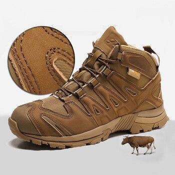 Botas de senderismo de alta calidad para hombre zapatos atl ticos para deportes al aire
