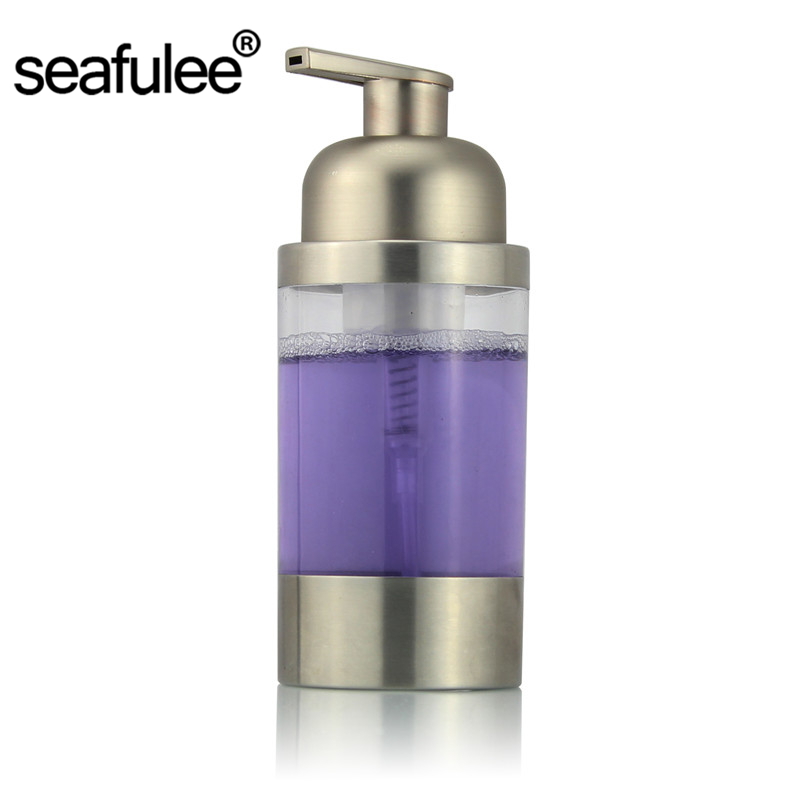 304 stainless steel countertop foaming foam soap dispenser bottlebrush finish ps pump head - Foam Soap Dispenser