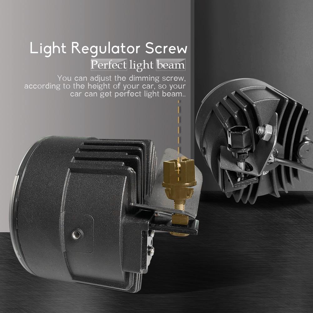 4in1 voiture LED ampoule feu de brouillard phare haut feux de croisement DRL + faisceau de câbles 12V trois couleurs pour Infiniti EX EX25 EX35 EX37 2008 2013 - 5