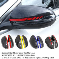 Carbon Fiber Mirror cover For Mercedes W205 W222 W213 W238 X205 GLC GLS C S GLC E Class C180 C200 AMG 1:1 Replacement Style AMG