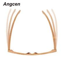 Men Women Glass Bamboo Sunglasses Wood Lens Wooden Frame Handmade