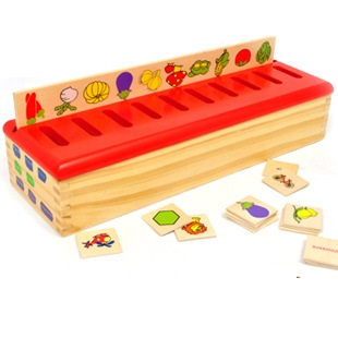 Wooden Cognitive Classification Box Puzzle Early Childhood Education Life Knowledge Puzzle hand grasp knob pegged puzzle wooden quality animals characters letter cognitive board children recognization toys