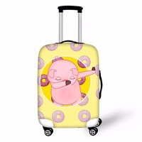 FORUDESIGNS Lovely Vogue Pig DAB Printing 3D Travel Luggage Protective Cover Trolley Suitcase Elastic Trunk Case