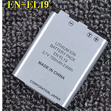EN-EL19 EN EL19 Digital Camera Battery ENEL19 lithium batteries pack For Nikon Coolpix S2600 S2700 S3100 S3500 S4100 S5200 S6400 nikon coolpix s100 s3100 s4100 digital cameras en el19 battery wall charger with car charger adapter davismax enel19 bundle