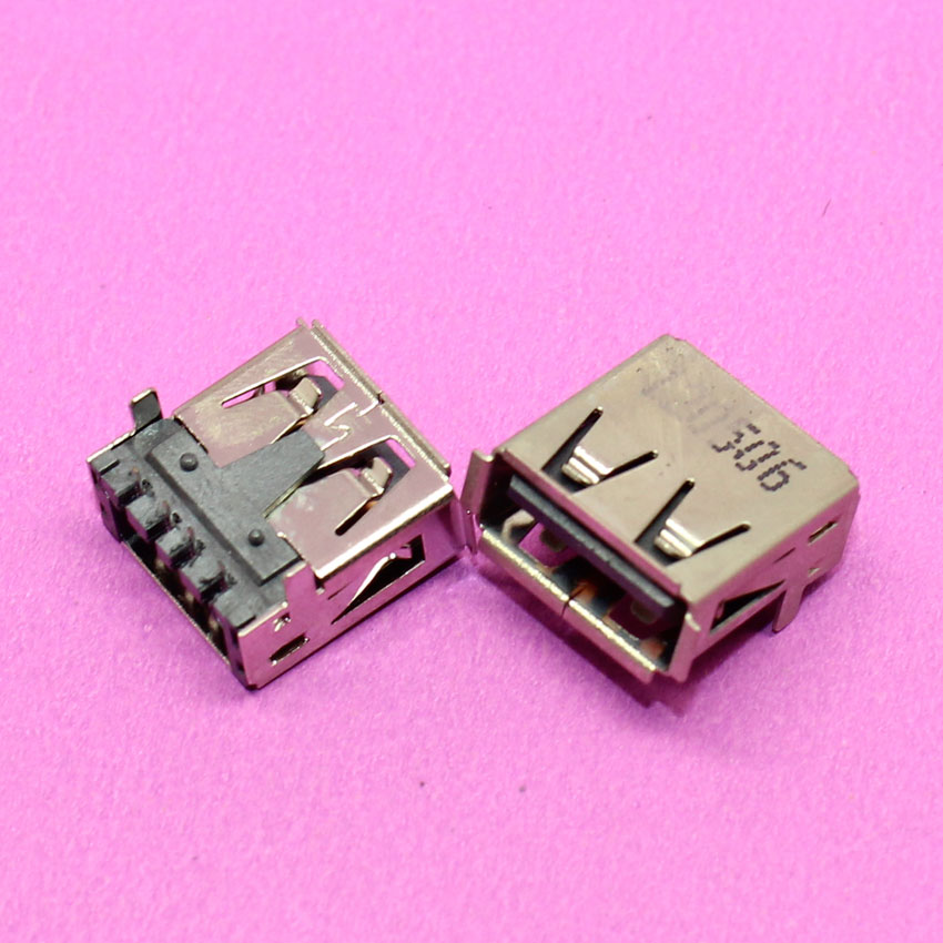 New USB 2.0 Female Plug Connector Socket Jack, Laptop & Notebook DIY PCB D13 best price brand new usb 2 0 female jack usb connector usb socket for notebook pc laptop 11083