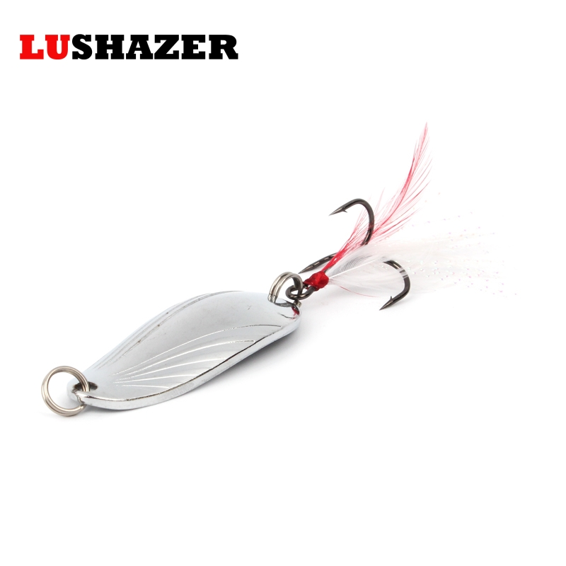 LUSHAZER fishing spoon lure metal lure silver/gold 8g 12g 14g spoon bait hard lure cheap fishing lure China fishing tackle lushazer brand fishing lure spoon 2g 5g 7g 10g 15g 20g gold silver fishing bait spoon hard lures metal lure china free shipping