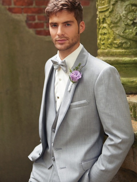 Latest Coat Pant Design Light Grey Wedding Suits For Men Groom ...