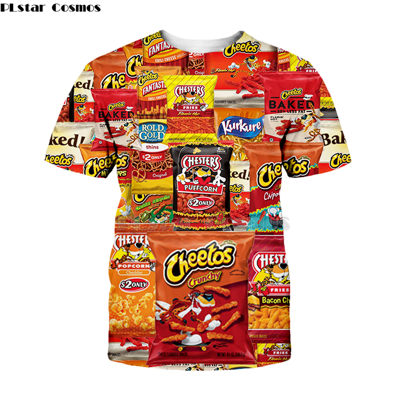 Newest Hot Cheetos food 3D Print Men//Women/'s Casual T-Shirt Short Sleeve Tees